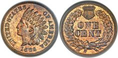 1864 Indian Cent L on Ribbon NGC PR64 RB available in the Heritage Auctions U.S. Coins Signature Auction in New York February 3-5, 2014...For the first time in many years Heritage Auctions did not host a sale at the Long Beach Expo. However, they do have one in New York this week, February 3-5. It is hosted at their New York offices and includes many classic rarities. One of the highlights is sure to be the 1855 S Seated Half Dollar graded by NGC as PR65...