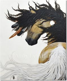 Majestic Horse - Pinto Curly Fine Art - Original Canvas Painting by BiHrLe Majestic Horse, Beautiful Horses, Native American Horses, Indian Horses, Horse Artwork, Painted Pony, Feather Art, Horse Drawings, Equine Art