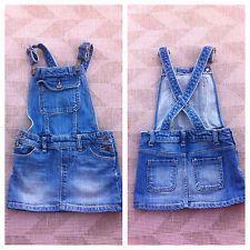Babygap 3 3t Overall Skirt Jean Denim EUC Fall Winter Dress