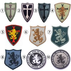 Devgru Lion Cross Crusader Shield Navy Seal Team 6 Military Tactical Morale Patch 3D US Embroidery Badge Military Armband Badge