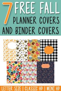 Fall Binder Covers and Free Fall Planner Covers Printable Planner Pages, Planner Book, Free Planner, Planner Stickers, Printable Calendars, Weekly Planner, Planner Diy, Printable Binder Covers Free, Free Printables