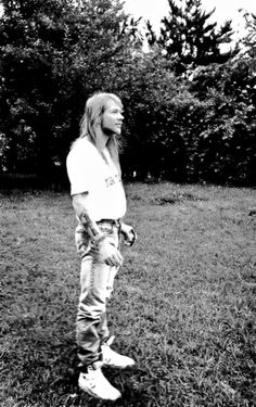 Axl Rose in his hometown of Lafayette, Indiana, July 23, 1992
