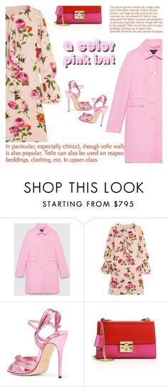 """Hey, Girl: Pretty Pink Coats"" by shoaleh-nia ❤ liked on Polyvore featuring Gucci"