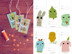 HEY LOOK: COLORFUL GIFT TAGS - FREE PRINTABLES FROM AROUND THE WEB