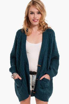 Gammie Knit Cardigan $49 at www.tobi.com