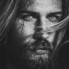 Gwilym Pugh, a shy man convinced by his barber to grow a beard - Ego - AlterEgo Growing Ginger, Viking Men, Ginger Beard, Black And White Portraits, Male Face, Beard Styles, Facial Hair, Gorgeous Men, White Photography