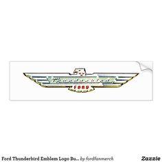 Ford Thunderbird Emblem Logo Bumper Sticker #zazzle #mrtbird #thunderbird #fordclassiccars #1950s #classiccars #giftsformen