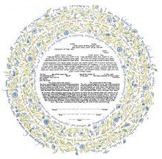04-1 Song of Love Ketubah by Mickie Caspi, $220 #ketubah #jewish #wedding #interfaith