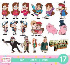 Pack de ClipArts de Gravity Falls cataratas de gravedad GIF