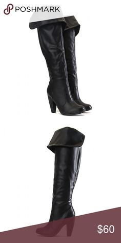 ee3d56fa7 Vegan Leather Knee High Boots Brand new in box. Never worn. Size 8 Features