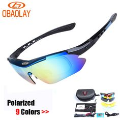 71051b0009c New Tactical Sport Cycling Glasses Polarized Sun Glasses Outdoor Sports  Glasses sunglasses Men Goggles Cycling Eyewear 5 Lens