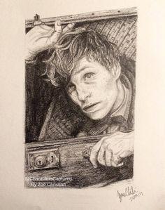 Newt Scamander Portrait Drawing By Zoe Christian @CharactersCaptured on etsy, instagram, and facebook. https://www.etsy.com/uk/shop/CharactersCaptured?ref=l2-shopheader-name #fantasticbeasts #fantasticbeastsandwheretofindthem #newtscamander #fantasticbeastsfanart #fanart #newtscamanderfanart #newtscamanderdrawing #artwork #artist #pencildrawing #etsy #etsyseller #etsyartist