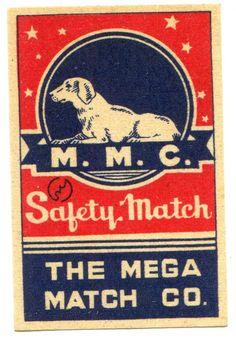 matchbox label Japan Japanese Old 1900 Dog M.M.C. Animal NOS vintage Chinese? in Collectables, Tobacciana/ Smoking, Matchboxes/ Matchbooks | eBay