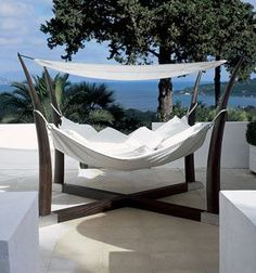 Cocoon hammock. All I need is this, an ocean view, and a drink with a tiny umbrella in it for pure bliss.