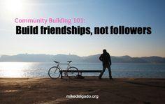 Excellent community building tips #cmgr