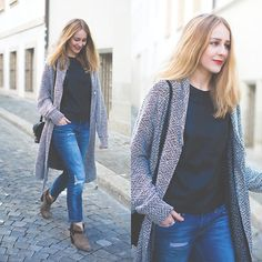 Asos Coat, Zara Jeans, Rag & Bone Boots, Rebecca Minkoff Bag, Muubaa Top