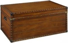 Home Decorators Collection w Steamer Trunk Coffee Table, W, Luggage Brown