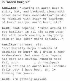 Hamilton: The biggest Burr fanboy Hamilton Burr, I'm Sad, Aaron Burr, Hamilton Fanart, Hamilton Lin Manuel Miranda, Hamilton Musical, Dear Evan Hansen, Alexander Hamilton, Fan Girl