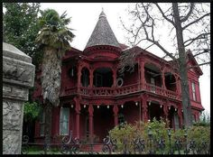 Red & black gothic victorian house #home #haunted