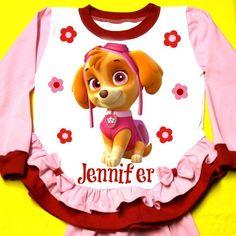 Paw Patrol Personalized Girl Pajama