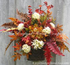 SALE, Fall Wall Bouquet, Fall Wreaths,  Autumn Floral Bouquet, Harvest, Thanksgiving, Designer, Elegant Fall Wreath