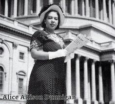 Alice Allison Dunnigan - journalist, first African-American female correspondent to receive White House credentials