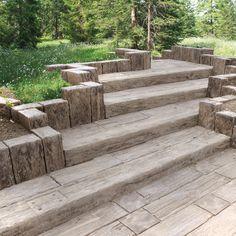 Beton Bahnschwellen Holzoptik : bahnschwellen holzoptik sind aber aus beton als terrasse garden patio saunahaus ~ Yuntae.com Dekorationen Ideen