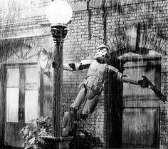 Storm Troopers, Singing in the Rain, Star Wars, Disney, Gene Kelly Chewbacca, Star Wars Art, Star Trek, Geeks, Stormtroopers, The Dark Side, Images Star Wars, Drawn Art, Battle Droid
