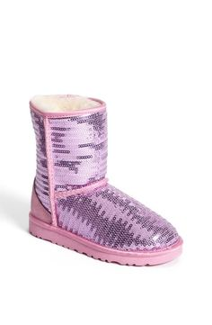 Cute & sparkly! Little pink & purple sequin UGG boots.