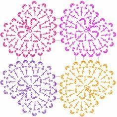 crochet hearts doily pattern free 1
