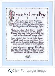 Prayer For a Little Boy/Girl  Wall Plaque - Catholic Gifts, Baptism - Click to enlarge