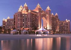 Atlantis, The Palm, Dubai, Beach Marquee at Night