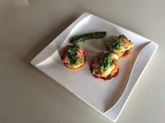 Tatlı patates pancar ve kuskonmaz eşliğinde somon (yarisma yemegim) :)