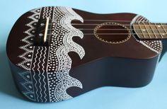 Zentangle-Inspired Painted Ukulele by UkuLeeShee on Etsy Arte Do Ukulele, Ukulele Chords, Ukulele Songs, Guitar Painting, Guitar Art, Mahalo Ukulele, Painted Ukulele, Painted Guitars, Ukulele Design