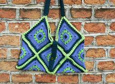 crochet Beachbag Purse shopping Bag BOHO Gypsy. Granny Square (22.00 EUR) by CrochetRagRug