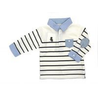 Striped polo (white) $27.99 Click to buy it now at www.mamadoo.com.au  #mamadoo #baby #boys  #clothes #fashion #cuteas #boyswillbeboys