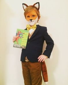 """Sonny James Parker, aged 6 of Newcastle. Mother Leanne Parker said: """"Fantastic Mr Fox. Roald Dahl Characters Costumes, Book Characters Dress Up, Book Costumes, World Book Day Costumes, Book Character Costumes, Book Week Costume, Storybook Characters, Roald Dahl Costumes Kids, Costume Box"""