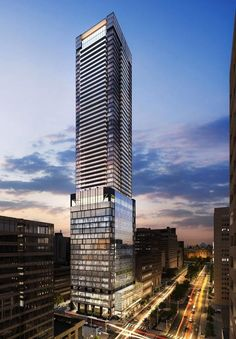 North View of The Residences of 488 University Avenue, designed by Core Architects for Amexon Corporation