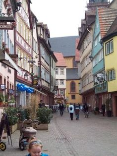 Downtown Wertheim Germany-we used to live here!  I remember walking down the streets!
