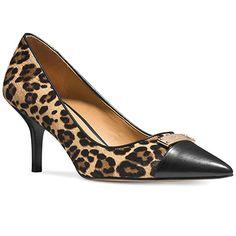 10 Midi Heels To Wear All Day Long   Coach Zan pumps in leopard print, $138