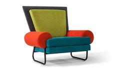 Ziggy Memphis Design Chair by Milo Baughman from Thayer Coggin