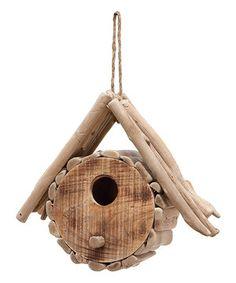 Look at this #zulilyfind! Small Wood Birdhouse by UMA Enterprises #zulilyfinds