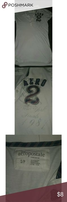 ??Size Small white Aeropostale collared shirt?? Size Small white Aeropostale collared shirt?? Aeropostale Tops