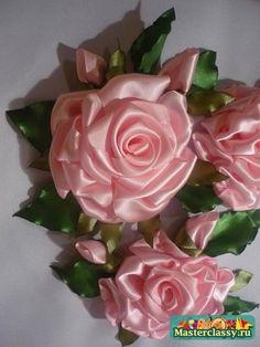 Вышивка лентами. Мастер класс розы