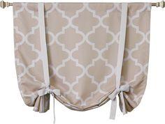 Quatrefoil Rod Pocket Tie-Up Curtain Panel