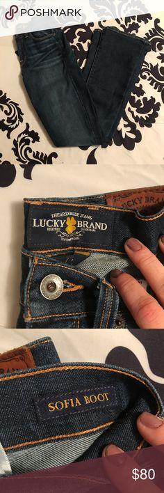 "5eb85a0e63a Lucky Brand ""Sofia Boot"" Jeans Basically brand new"