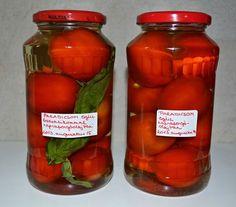 Paradicsom egészben, olajjal tartósítva Canning Pickles, Pickling Cucumbers, Just Eat It, Gourmet Gifts, Hungarian Recipes, No Bake Cake, Healthy Living, Paleo, Spices