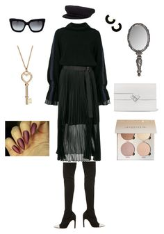 """""""Classy Black"""" by aida-sbotv on Polyvore featuring Sacai, Givenchy and Eugenia Kim"""