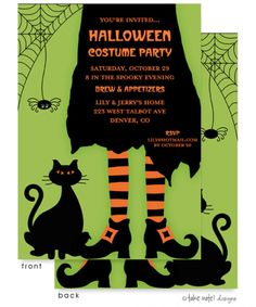 Halloween Invitations by Invitation Duck
