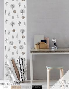 Peel and Stick Tree print Removable Self-adhesive vinyl Wallpaper - CM026 by CoverMEwallpapers on Etsy https://www.etsy.com/nz/listing/222092309/peel-and-stick-tree-print-removable-self